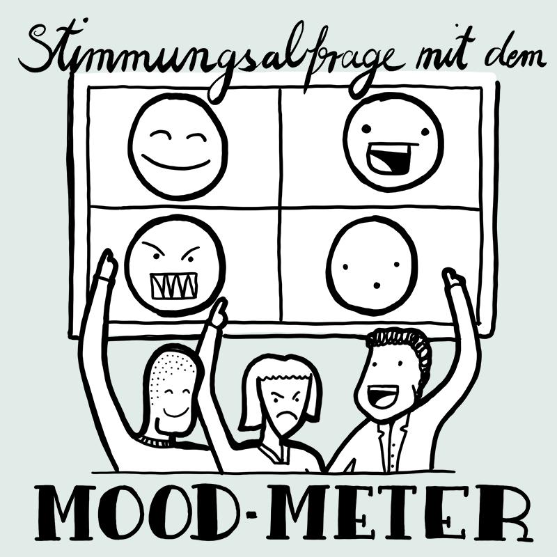 Die Methode zum Gestalten von Online-Meetings heisst Mood Meter